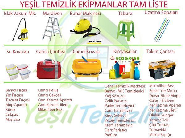 yeşil-temizlik-sirketi-malzeme-listesi